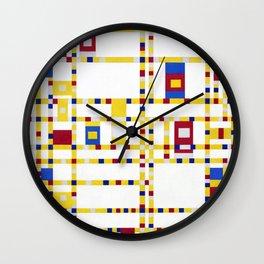 Piet Mondrian Broadway Boogie Woogie Wall Clock