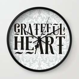 Grateful Heart Wall Clock