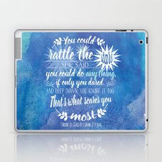 Throne of Glass by Sarah J. Maas Book Quote - Rattle The Stars Laptop & iPad Skin