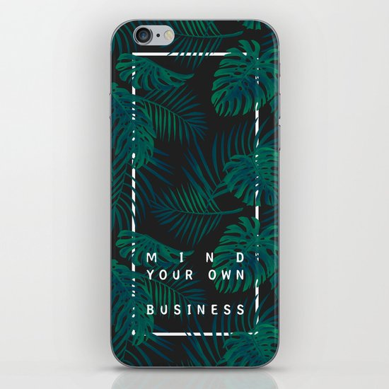 Mind your own business iPhone & iPod Skin