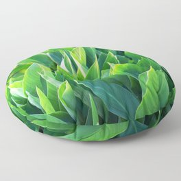 Green leaves so beautiful. Floor Pillow