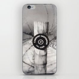 Cabernet - black and white wine photo vineyard iPhone Skin