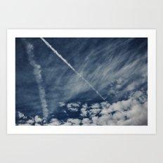 Sapphire Sky Art Print