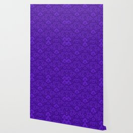 Ultra Violet Floral Pattern Wallpaper