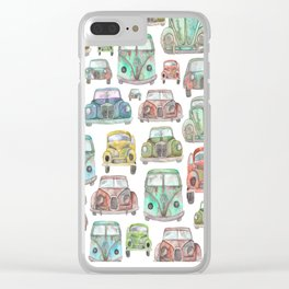 Vintage Cars Clear iPhone Case
