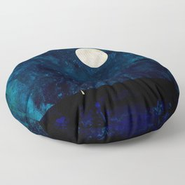 Sail To The Moon Floor Pillow