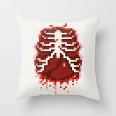 Pixel Guts Throw Pillow