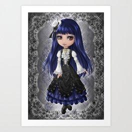 Elegant Gothic Aristocrat Art Print
