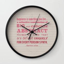 Happiness (Darren Criss) Wall Clock