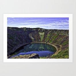 Kerid Crater Lake in Iceland Art Print