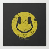 springsteen Canvas Prints featuring Music Smile by Sitchko Igor