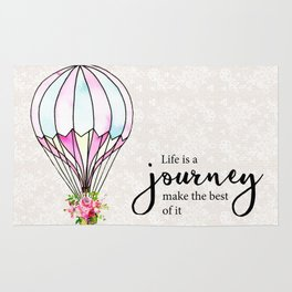 Life is journey Rug