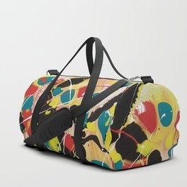 Happy: Fun and Colorful Abstract Duffle Bag