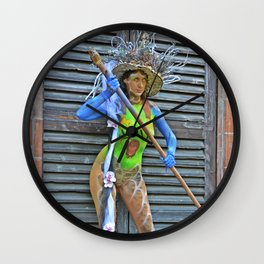Body Painting OWL 7 - Made in Italy Wall Clock
