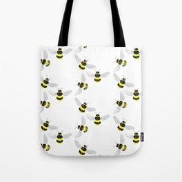 Fuzzy Bumblebees Tote Bag