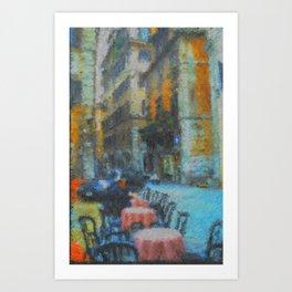 Morning Coffee in Rome Art Print