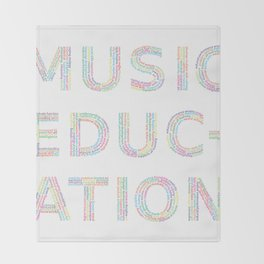 Music Education Throw Blanket