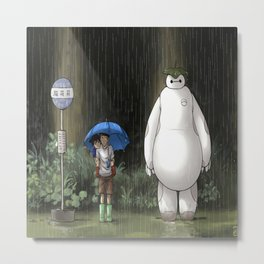 My Neighbor Baymax Metal Print