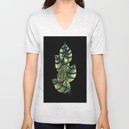 Viper Leaves III Unisex V-Neck