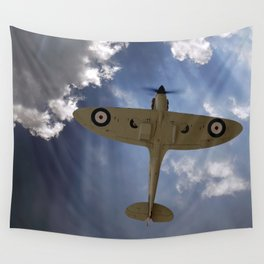 Aces High - Spitfire Vertical Climb Wall Tapestry