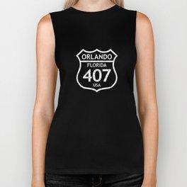 407 Orlando Florida USA Area Code Biker Tank