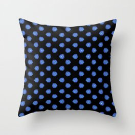 Blue flowers on back Throw Pillow