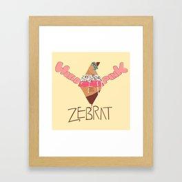 World in Pink - Zebrat Single Art Framed Art Print
