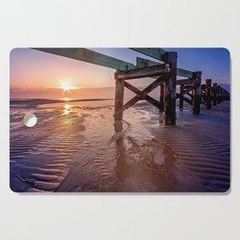 Biloxi Beach Low Tide Sunrise Cutting Board