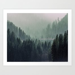 Content in Solitude #forest #trees #landscape Art Print