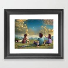 Cricket dreamer Framed Art Print