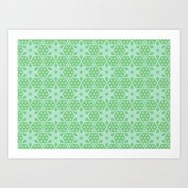 Stars and Hexagons Pattern - Distant Hills Art Print