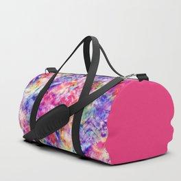 Tie Dye Color Chaos with Om Symbol making Ganesha Duffle Bag