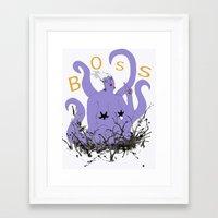boss Framed Art Prints featuring Boss by Hillary J. Murphy