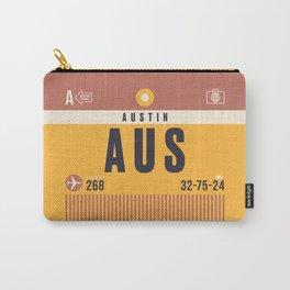 Luggage Tag A - AUS Austin Texas USA Carry-All Pouch