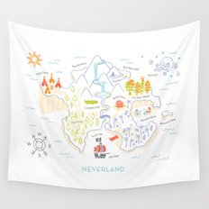 Neverland Map Color Wall Tapestry