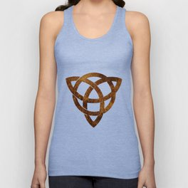 Celtic knot on old paper Unisex Tank Top