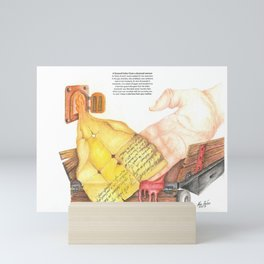 Farewell letter from a doomed woman Mini Art Print
