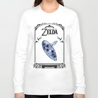 majora Long Sleeve T-shirts featuring Zelda legend - Ocarina of time by Art & Be