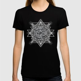 OM Geometry Black White Tribal T-shirt