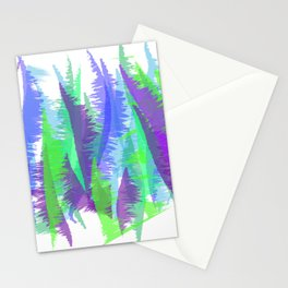 Purple and Green Abstract - original design by ArtStudio29 Stationery Cards