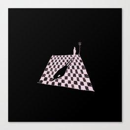 White Shadow-sketch Canvas Print