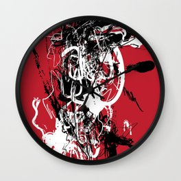 Red Spider - Abstract Art, Art Prints Wall Clock