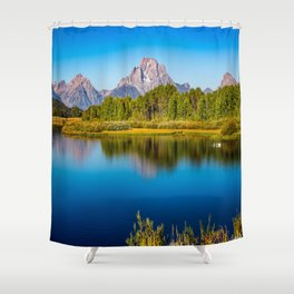 Oxbow Bend - Mt Moran in the Grand Tetons Shower Curtain