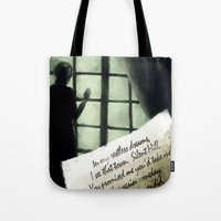 silent hill Tote Bags featuring Waiting for you... - Silent Hill 2 by JeyJey Artworks