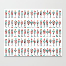 Nutcracker Watercolor and Ink Pattern Canvas Print