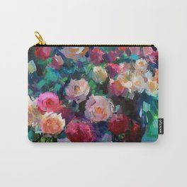 Flowers on The Garden Table Carry-All Pouch