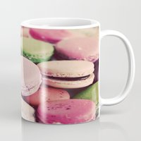 macarons Mugs featuring Sweet Macarons by elle moss
