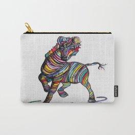 Kaleidoscope Zebra Carry-All Pouch