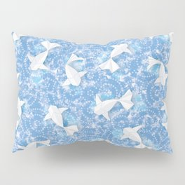 Origami Koi Fishes (Sky Pond Version) Pillow Sham