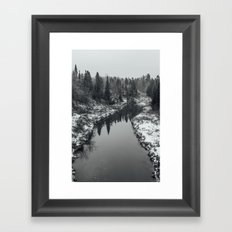 The first snow Framed Art Print